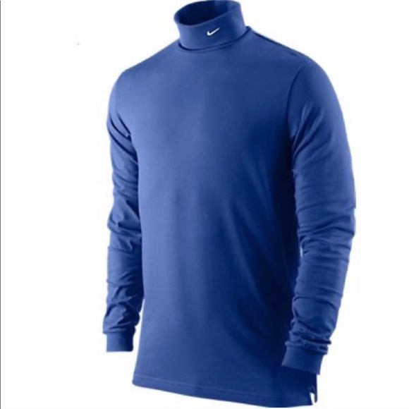 Nike Other - Nike Blue Mock Turtle Neck Sports Top